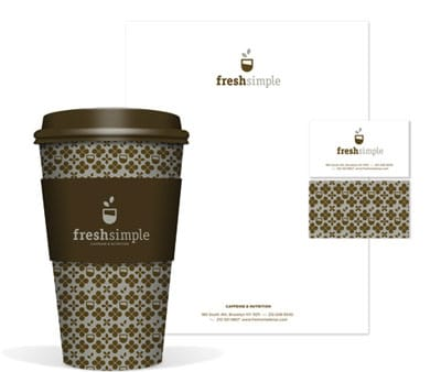 FreshSimple Cafe (Brooklyn, NY) Identity Package by Celeste Prevost.