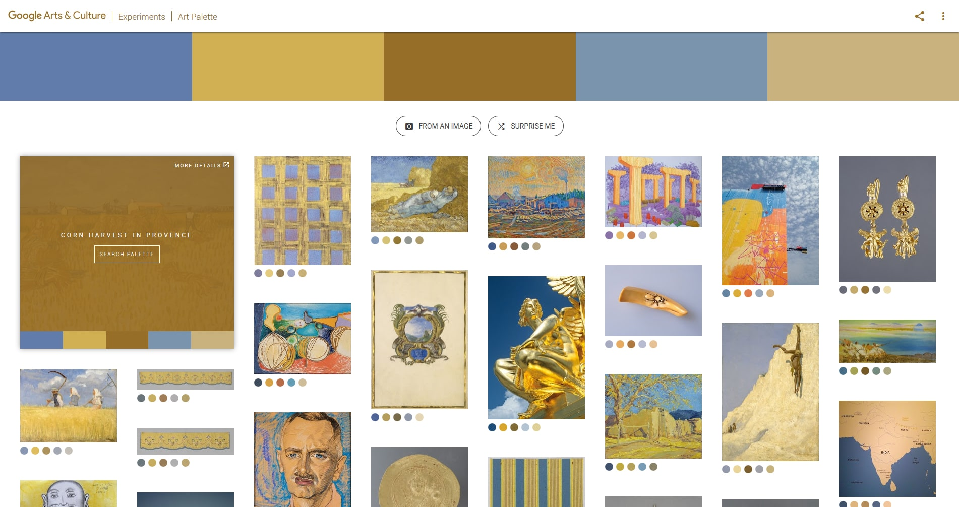 Google Art Palette Colors Tool