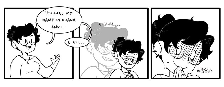 Iliana Franco cartoon strip