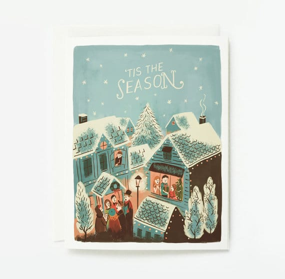 for this holiday season hand lettered cards are in vogue hand lettered designs have a personal and crafted style that people like - Holiday Card Design
