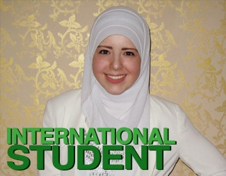 International student Hiba Abugosh