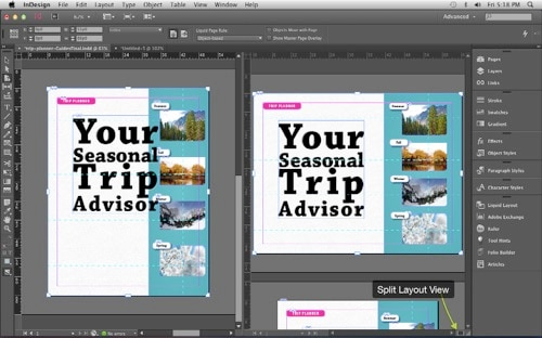 designing liquid layouts in Adobe Indesign CC