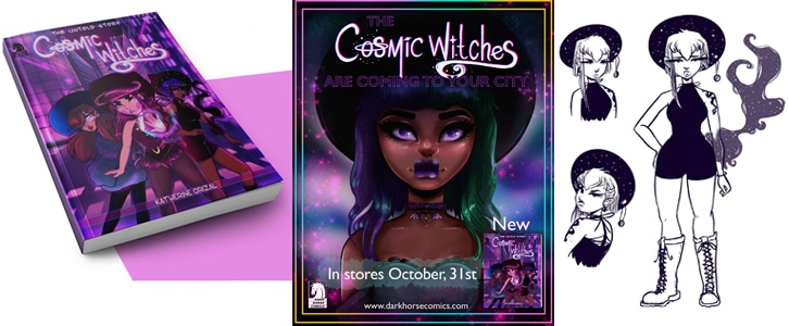 Katherine Butts graphic art Cosmic Witches