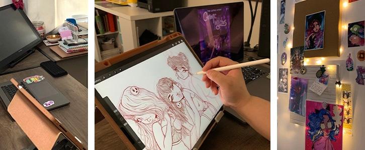 Illustration student online studio - Sessions College