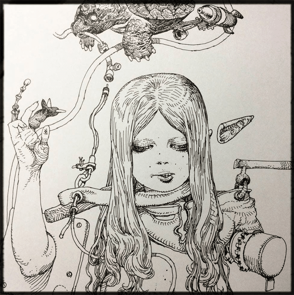 katsuya-terade-line-drawing