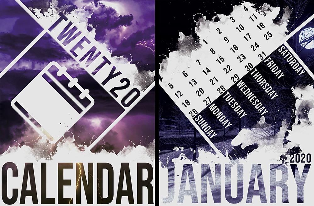 Kayla Langley calendar design