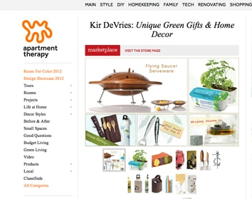 ecommerce site kir devries screenshot