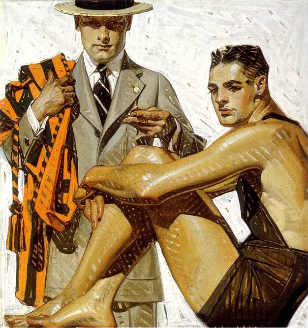 leyendecker parallel brushstrokes