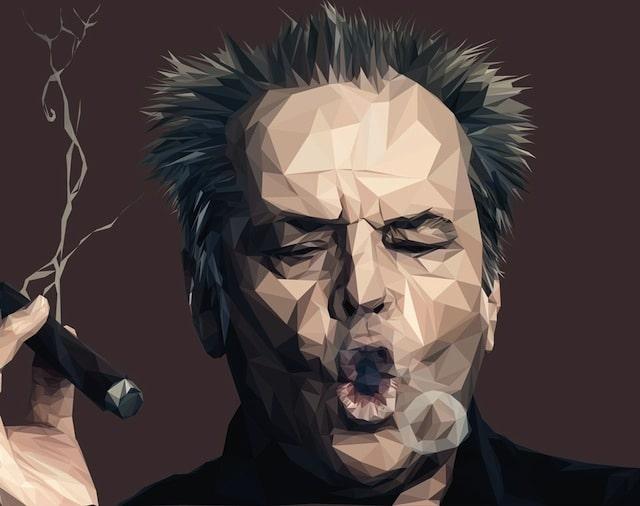 low poly Jack Nicholson