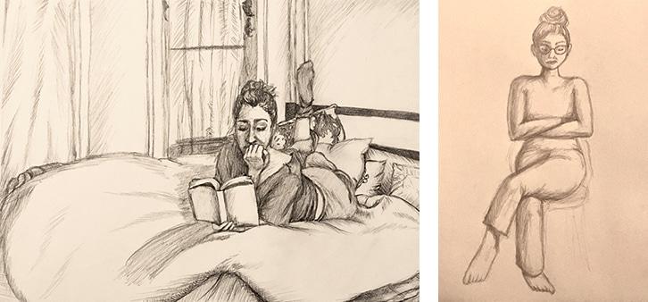 Maggie Brownstone drawing work