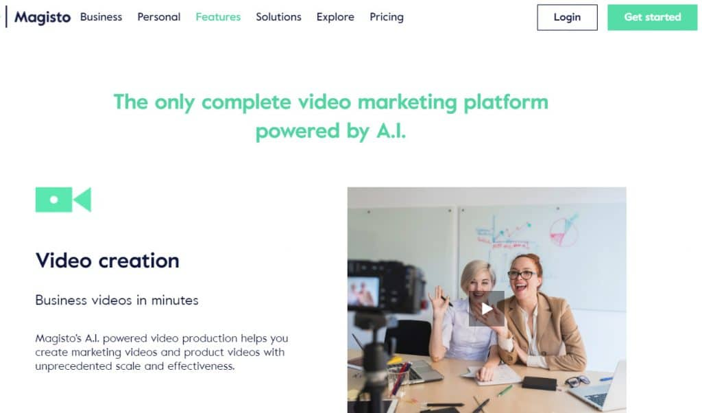 Magisto video marketing AI