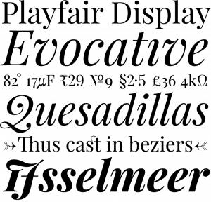 playfair display styles 2