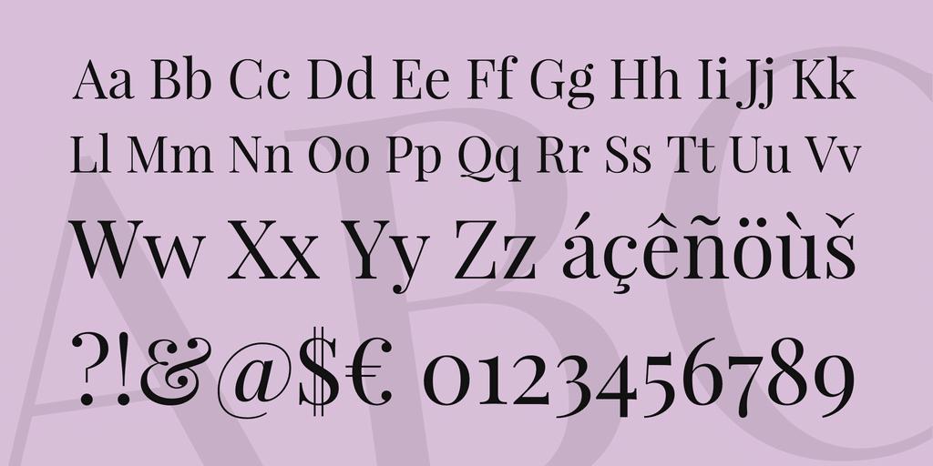 playfair display uppercase lowercase