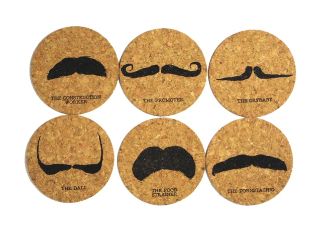 artistic mustache coasters - How to love your artist