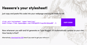 type nugget style sheet
