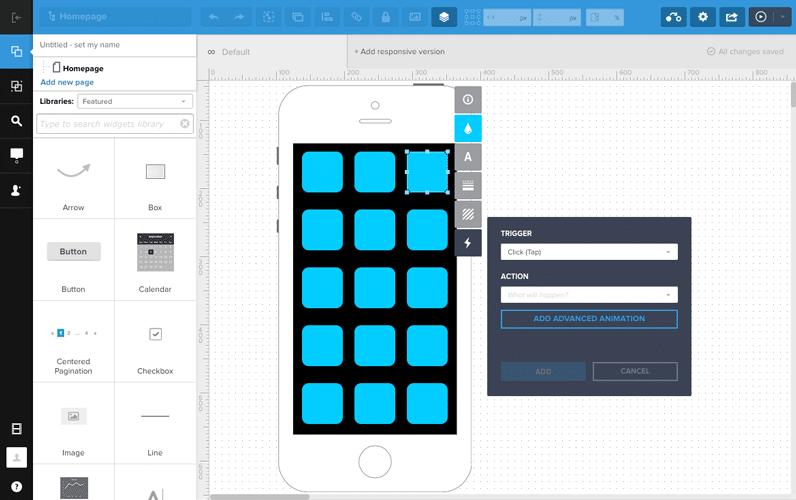 uxpin app layout